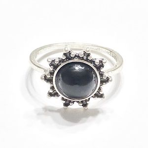 New Black Gemstone Ring size 7.5